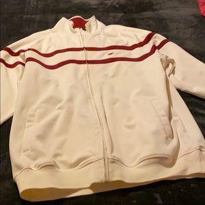 Light zip up Echo Cream and Maroon jacket